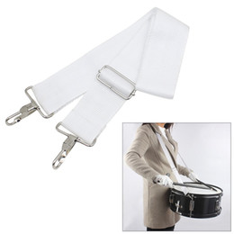 belts Australia - One Piece Adjustable Snare Drum Strap Sling Belt Nylon for Smaller Marching light Grey