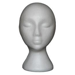 $enCountryForm.capitalKeyWord UK - New Abstract Foam Mannequin Head Manikin Head Model Wig Hair Glasses Display Stand