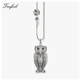 $enCountryForm.capitalKeyWord Australia - Link Chain Necklace Big And Small Owl, Fashion 925 Sterling Silver Jewelry European Romantic Gift For Women Girls 2018 Collier J190616