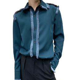 Court Shirts Australia - 2019 Spring Men's Long Sleeve Fringe Thin Shirt Fashion Tide Tops Casual Shirts England Style Vintage Court Tassels Loose Shirt