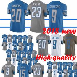 92fda86e0 Top quality Detroit Lion Jerseys 20 Barry Sanders 23 Darius Slay Jr 15 Golden  Tate III 9 Matthew Stafford Jersey