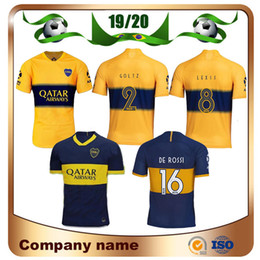 Soccer boca online shopping - 2019 Boca Juniors DE ROSSI Soccer Jersey Home Tibet Navy Away yellow GAGO Soccer Shirts Cardona Benedetto Pavón football Uniform