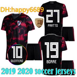 1aeae577e ADULT kit 2019 2020 River Plate soccer jersey third Quintero 10 Pratto  Borre Palacios 19 20 argentina River Plate MEN SETS football shirt