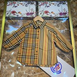 $enCountryForm.capitalKeyWord Australia - Boys and girls shirts kids designer clothing shirts classic plaid shirts pure cotton fabric shirt tops