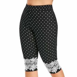 $enCountryForm.capitalKeyWord Australia - Summer Womens Plus Size High Waist Wave Point Yoga Shorts Lace Calf Length Sport Pants