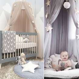 $enCountryForm.capitalKeyWord Australia - Dome Bed Canopy Cotton Mosquito Net Bedding Hanging Bedcover Curtain For Baby Kids Reading Playing Home Decor D