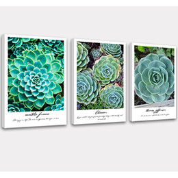 Art Canvas Prints Australia - Succulent Plant Wall Art Picture Canvas Prints Simple Life Painting Modern Artwork for Home Kitchen Decor