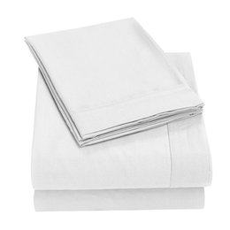 Bedsheet Cotton White Australia - Super Silky Soft - 1500 Thread Count Egyptian Quality Luxurious Wrinkle, Fade, Stain Resistant bedsheet set sheet set 49