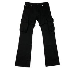 Wholesale high fashion mens overalls for sale – denim Mens Pants VUJADE CARGO FLARE PANTS Pocket Ribbon Overalls Micro Flare Pants TRAVIS Casual Fashion Fitness High Street