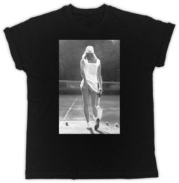 TENNIS GIRL FUNNY RETRO COOL BIRTHDAY PRESENT GIFT MENS BLACK T SHIRT Size Discout Hot New Tshirt Colour Jersey Print Shirt
