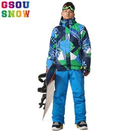 $enCountryForm.capitalKeyWord Australia - GSOU SNOW Ski Suit Men Ski Jacket Pants Waterproof Snowboard Sets Jacket Pants Hooded Mountain Skiing Suit Male Spots Clothing