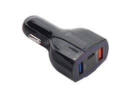 $enCountryForm.capitalKeyWord Australia - 35W 7A 3 Ports Car Charger Type C And USB Charger QC 3.0 With Qualcomm Quick Charge 3.0 Technology For Mobile Phone GPS Power Bank Tablet PC