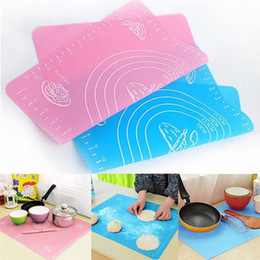 $enCountryForm.capitalKeyWord NZ - Hot Sale Silicone Cake Dough Rolling Kneading Baking Mat With Scale 50*40cm Rolling Cut Mat Fondant Clay Pastry Icing Dough Tools