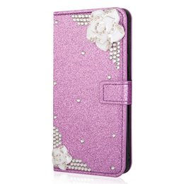 phone wallet case for girls NZ - Bling flower flip Case for s8 ,colorful girls Luxury wallet phone case for samsung galaxy s8 back covers