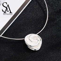 $enCountryForm.capitalKeyWord NZ - Sa Silverage New 925 Sterling Silver Rose Chokers Necklaces For Women Flower 925 Silver Pendant Statement Necklaces Fine Jewelry J190528
