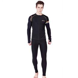 $enCountryForm.capitalKeyWord UK - SABOLAY Men's Lycra Long Sleeve rash guard suit Surf Swim Swimming Shirt Long Pants couple suit Black Diving wetsuit