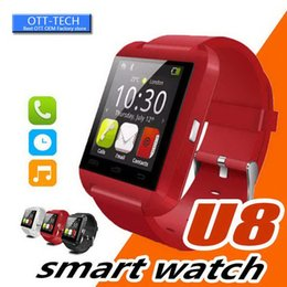 u8 touch screen smart watch Australia - Bluetooth U8 Smart Watch Wrist Watches Touch Screen For Android ISO Phone Sleeping Monitor With Retail Package 30PCS LOT