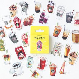 Cool Stationery Australia - LOLEDE New 45pcs set Cool Drinks Washi Tape Decorate Japanese Stationery Scrapbooking Supplies Stickers Office Adhesive Tape 2016