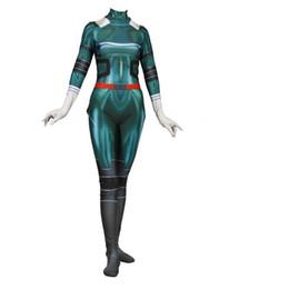 Green Spandex Jumpsuit NZ - Japan Anime My Hero Academia Green DeKu Cosplay Costume Superhero Lycar Spandex High Quality Zentai Bodysuit Catsuit Jumpsuit