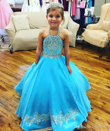 Size toddler girlS pageant dreSSeS online shopping - Turquoise Little Girl s Pageant Dresses Gowns Toddler Kids Ball Gown Glitz Flower Girl Dress Weddings Beaded Size Organza