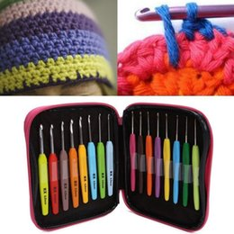 $enCountryForm.capitalKeyWord Australia - 16pcs Multicolor Crochet Hook Yarn Knitting Set Hand Sewing Tool 1set for Make Bag
