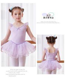 Wholesale Ballet Skirt Girls Sleeveless Dance Dress Sequins Cotton Ballet Tutu Skirt Bow Exercise Clothes Children's Dancewear