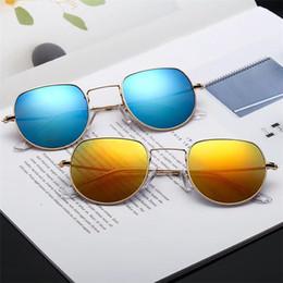 Womens Polarized Sun Glasses Australia - 1Pair High Quality Hexagonal Metal Sunglasses For Mens Womens Irregular Sun Glasses Gold Green 51mm Glass Lens With Black Case11