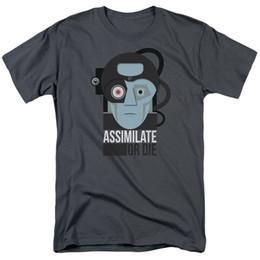 8f4720443 Star trek t ShirtS online shopping - Star Trek Assimilate Or Die Licensed  Adult T Shirt