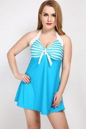 $enCountryForm.capitalKeyWord Australia - 2019 Women Summer Swimwear One-Piece Swimsuit Plus Size Sport Stripe Print Sling High Quality Sexy Backless Squeezing Chest Swimming Wear