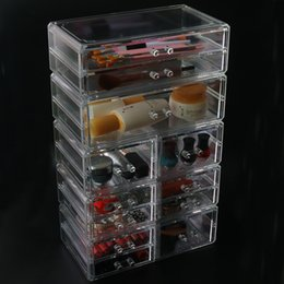 Big Transparent Boxes Australia - Home 4 Drawer Big Clear Lipstick Storage Box Acrylic Transparent Acrylic Makeup Cosmetic Makeup Organizer Jewelry