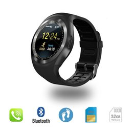 bluetooth smart watch sim Australia - Y1 Bluetooth Smart Watch Wristband Bracelet with SIM Card Slot for android cellphones IPS Round Water Resistant with Retail Package