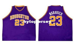 $enCountryForm.capitalKeyWord NZ - Cheap Men's Hot sale #23 Pete Maravich Jersey purple or customize Any number High quality embroidery Basketball jersey NCAA