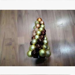 $enCountryForm.capitalKeyWord Australia - Electroplating light decorative hanging ball Christmas ornaments plastic decorative colored ball Christmas tree