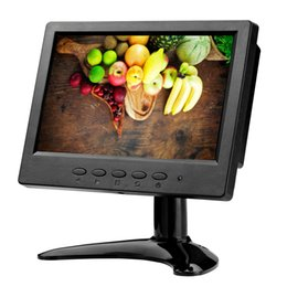 Av Speakers Australia - ZHIXIANDA H0716 7 inch 1024*600 16:9 AV BNC VGA HDMI signal portable mini LCD screen monitor with two speakers