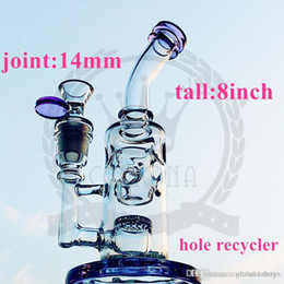 hand blown hookahs UK - factorys hot glass water pipes Color windmill bong rigs 18.8 mm joint Ash Catchers Oil Rigs 8inch hand blown thick glass hookahs water pipe