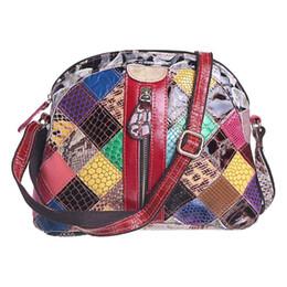Bag Shells Australia - Women Shell Bag Genuine Leather Handbag Spring Patchwork Crossbody Bags Female Shoulder Bags Totes Bolsas Feminina Random Color