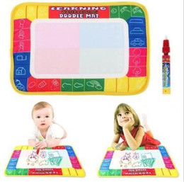 Water Doodle Painting Australia - 29x19cm Kids Water Drawing Painting Writing Mat Board with Magic Pen Doodle Writing Cloth Mat Kids Gift Painting Supplies CCA11172 360pcs