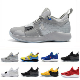 Discount new paul george shoes - New Arrival PG 2.5 University Red Opti Yellow Men Basketball Shoes Racer blue White Black Wolf Grey Mens Paul George spo