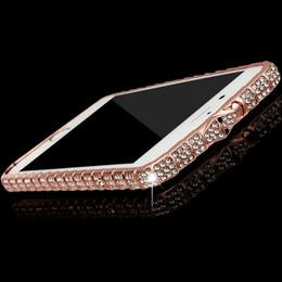 Iphone Metal Bumper Diamond Australia - Luxury Designer Metal Diamond Bumper Case for IPhone X XS MAX XR 10 8 7 6 S 6S Plus 8plus for I Phone X Cases Frame Cover 50pc