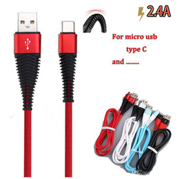 Micro usb cable gold online shopping - High resistance USB Cable m ft A fast charging sync data charge cord usb type C cables for phone S10 NOTE plus