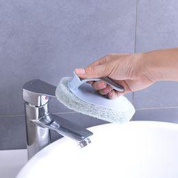 Shower Sponge Handle Australia - 2336 Brute Force Decontamination Bring Handle Sponge Bottom Clean Brush Shower Room Bathtub Wash Pot Brush Tile Wipe Sponge Wipe