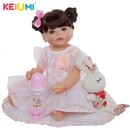 Discount toddler silicone babies - KEIUMI Collectible Reborn Menina 55 cm Full Silicone Vinyl Reborn Baby Doll Exclusive Princess Toddler Children's D