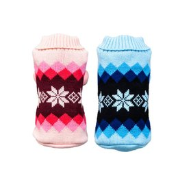 diamonds for clothes UK - Dog Diamond Sweater Pet Dogs Cat Knitwear Dog Puppy Clothes Warm Coat For Small Large Dogs Winter Costume For Gatos z