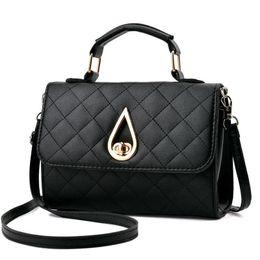 $enCountryForm.capitalKeyWord NZ - Fashion Water Drop Metal Buckle Wallet Mini Square Flap Bag Ladies Shoulder Bag Pu Leather Crossbody Bag Solid Color Handbag