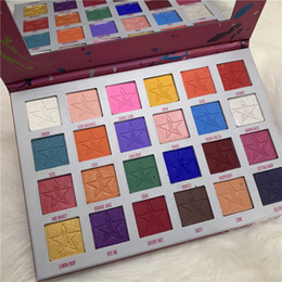 Makeup palette Mirror online shopping - Eyeshadow Pressed Pigment Palette Five Star Highlighter Eyeshadow Jaw Breaker color Eye Shadow with Cosmetic Mirror Makeup