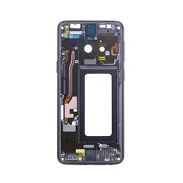 $enCountryForm.capitalKeyWord Australia - Front Frame for Galaxy S9 Middle Housing Replacement Black Purple Blue Gray with Small Parts Copper Contact Ori