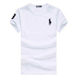 $enCountryForm.capitalKeyWord Australia - 2019 Summer New Big Horse Embroidery Short Sleeve T-Shirt Men Soft Cotton T Shirt Men Casual O-Neck Slim Fit Tee Shirt High Quality