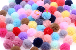 $enCountryForm.capitalKeyWord Australia - 50pcs 25pairs Cute Pet Puppy Dog Cat Hair Bows Small Colorful Small Ball with Rubber Bands Dog Grooming Accessory Pet Supplies D19011506