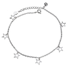 $enCountryForm.capitalKeyWord Australia - 9 Designs 925 Sterling Silver Bracelets for Women Girls Fashion Charm Bangle Cross Butterfly Star Heart Bell Ball Leaf Beads Chain Jewelry