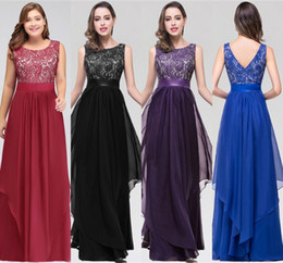 Wholesale lace topped stockings resale online - Stock Cheap Designer Bridesmaid Dresses A Line Crew Neck Lace Top With Belt Ruffles Maid of Honor Wedding Guest Evening Prom Gown CPS251